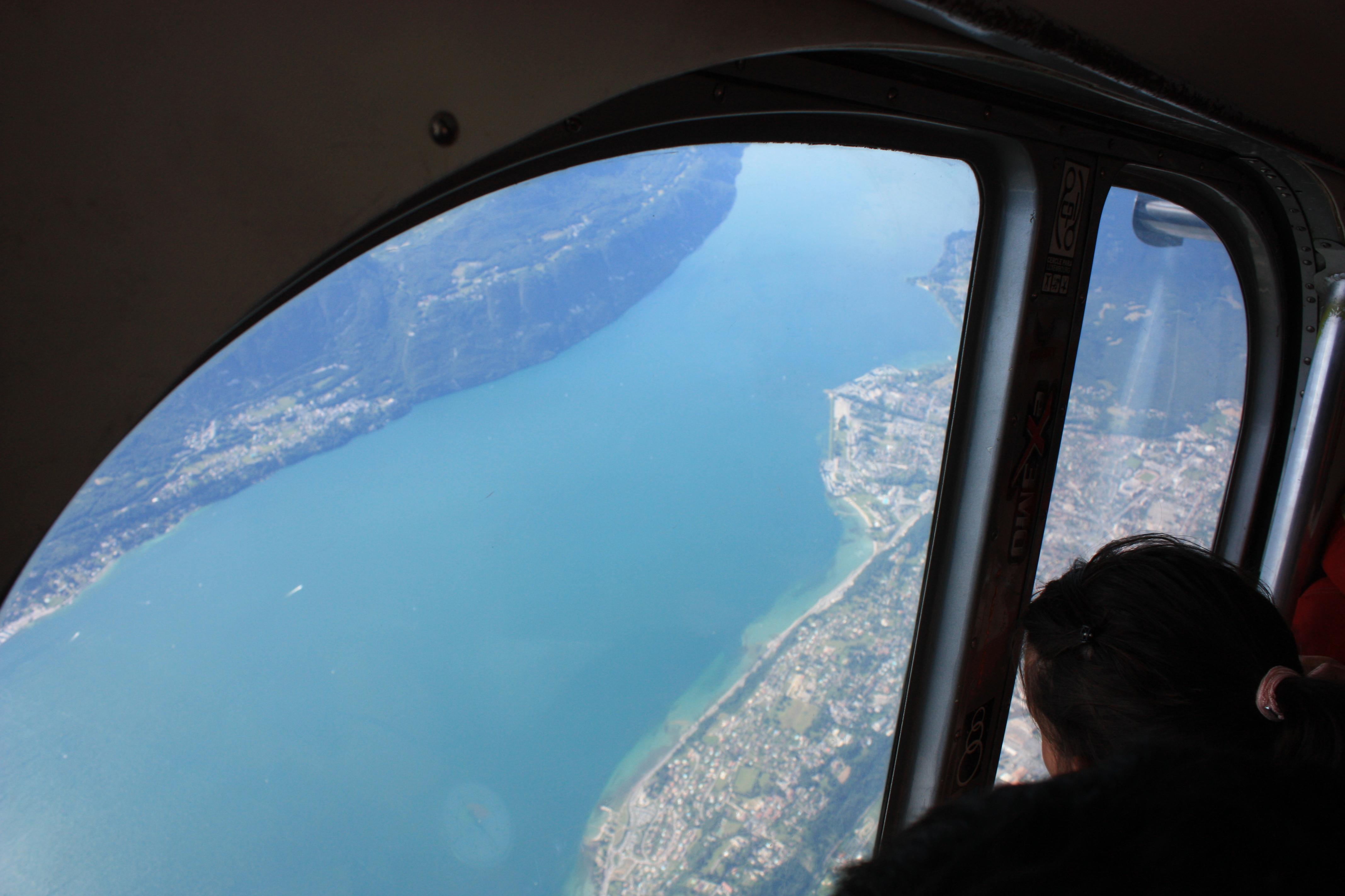 Montée en avion à Chambery
