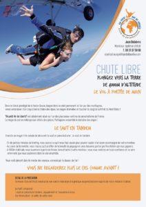 Bon cadeau pour un saut tandem à Chambéry