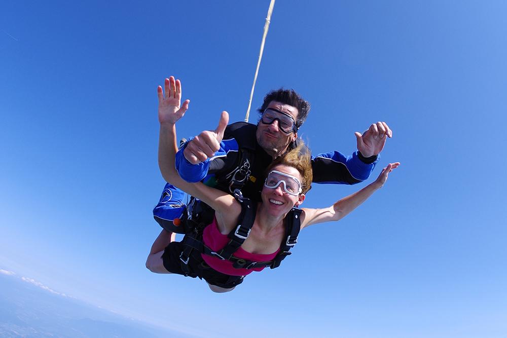 Chute libre en parachute tandem