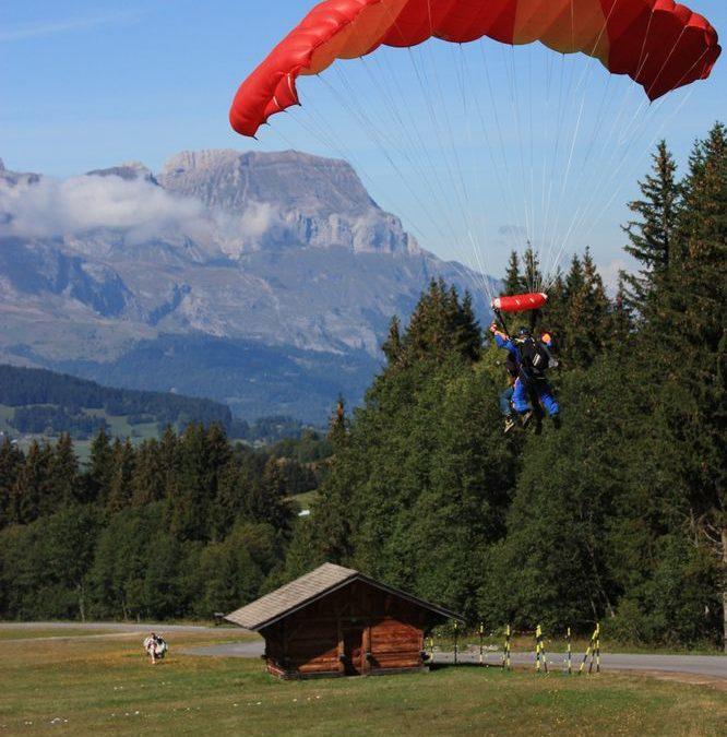 Sauts en parachute à Megève