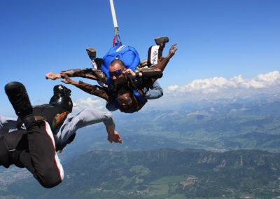 saut en tandem Chambéry, Lyon, Grenoble